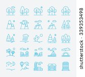 landscape icons  thin line... | Shutterstock .eps vector #339353498