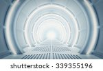 Futuristic Tunnel Of Steel And...