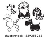 vector painted dogs 2 | Shutterstock .eps vector #339355268