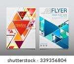 business brochure flyer design... | Shutterstock .eps vector #339356804
