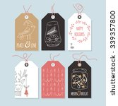 christmas hand drawing gift tag ...   Shutterstock .eps vector #339357800