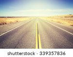 vintage toned endless country... | Shutterstock . vector #339357836