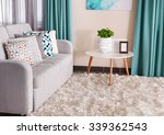 sofa with colorful pillows in... | Shutterstock . vector #339362543