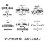 merry christmas lettering...   Shutterstock .eps vector #339363650