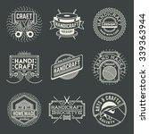 handicraft insignias logotypes...   Shutterstock .eps vector #339363944