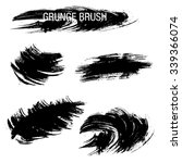 vector set of grunge brush... | Shutterstock .eps vector #339366074