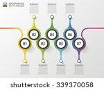 timeline infographics design... | Shutterstock .eps vector #339370058