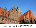 Stock photo market church and old town hall in hannover germany 339370310