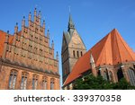 Stock photo market church and old town hall in hannover germany 339370358