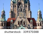 Stock photo new town hall rathaus in hanover germany 339370388