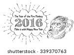 chinese new year of the monkey... | Shutterstock .eps vector #339370763