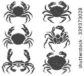 Set Of The Crabs. Label Or...