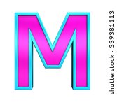one letter from pink glass with ... | Shutterstock . vector #339381113