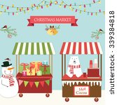 cute retro card of christmas... | Shutterstock .eps vector #339384818