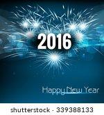 2016 happy new year celebration ... | Shutterstock .eps vector #339388133