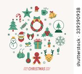 set of christmas icons   eps10... | Shutterstock .eps vector #339390938