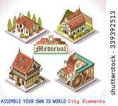 isometric city medieval... | Shutterstock .eps vector #339392513