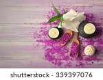 spa composition of candles ... | Shutterstock . vector #339397076