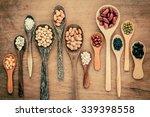 assortment of beans and lentils ... | Shutterstock . vector #339398558
