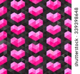 Vector Seamless Geometric Pink...