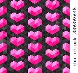 Vector Seamless Geometric Pink...