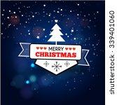 christmas decoration vector... | Shutterstock .eps vector #339401060