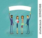 businessmen show white board ... | Shutterstock .eps vector #339405488