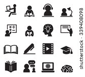 learning icons set | Shutterstock .eps vector #339408098