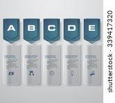 design clean number banners... | Shutterstock .eps vector #339417320