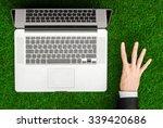 work outdoors and businessman... | Shutterstock . vector #339420686