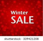 winter sale inscription on... | Shutterstock .eps vector #339421208