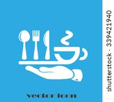 icon of fork  spoon  knife  cup | Shutterstock .eps vector #339421940