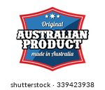 made in australia   | Shutterstock .eps vector #339423938