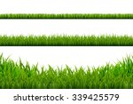 grass borders set  vector... | Shutterstock .eps vector #339425579