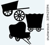 vintage wagons to transport.... | Shutterstock .eps vector #339425594