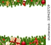 merry christmas borders with... | Shutterstock .eps vector #339425729