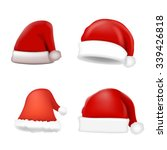 set of santa hat. vector | Shutterstock .eps vector #339426818