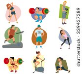 sports people in the flat style.... | Shutterstock .eps vector #339427289