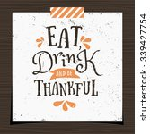 thanksgiving typographic design ... | Shutterstock .eps vector #339427754