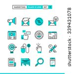 digital marketing  online... | Shutterstock .eps vector #339431078