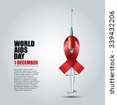 world aids day concept with... | Shutterstock .eps vector #339432206