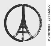 hand drawn peace for paris... | Shutterstock .eps vector #339432800