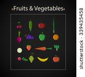 vector healthy food icon set.... | Shutterstock .eps vector #339435458