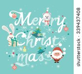 merry christmas vector | Shutterstock .eps vector #339437408