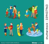 winter young happy people... | Shutterstock .eps vector #339437963