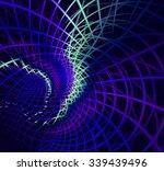abstract fractal blue... | Shutterstock . vector #339439496