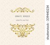 vector decorative frame.... | Shutterstock .eps vector #339440234