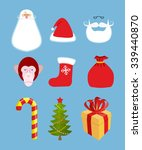 Christmas Icons Set. Character...