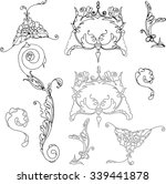 vintage  lace black and white... | Shutterstock .eps vector #339441878