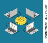 bitcoin network connection... | Shutterstock .eps vector #339443909